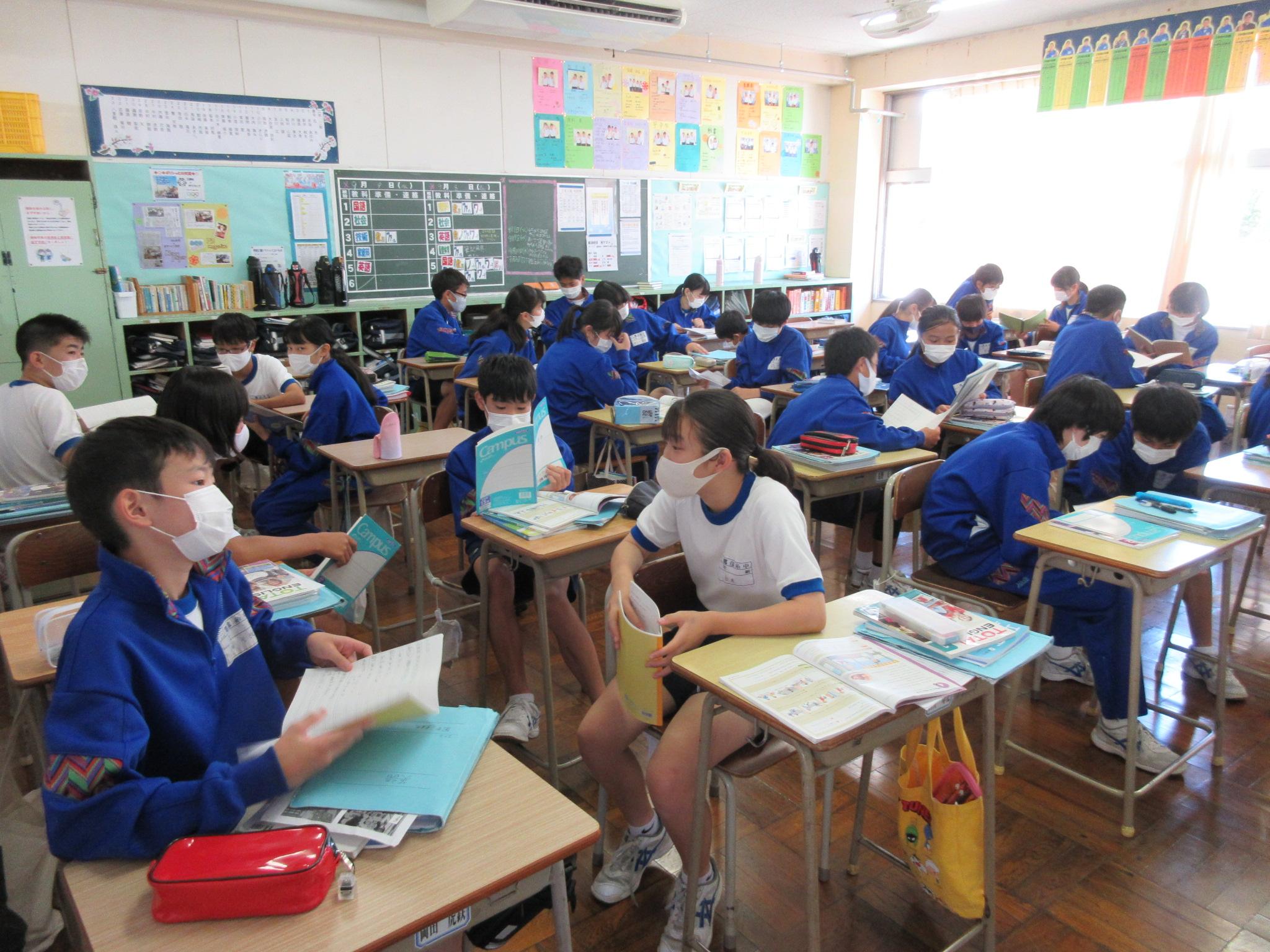 授業の様子三郷市立彦糸中学校